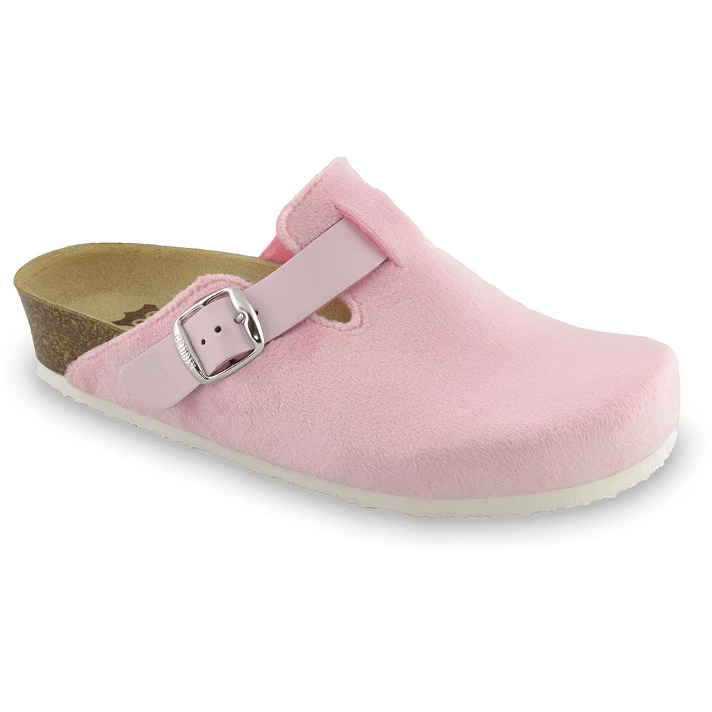RIM domowe zimowe buty damskie - plusz (36-42) - jasnoróżowy, 40