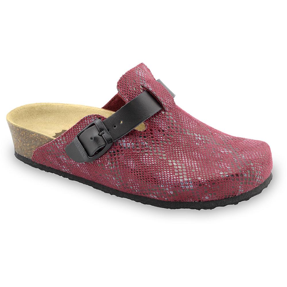 RIM domowe zimowe buty damskie - plusz (36-42) - czerwony, 42