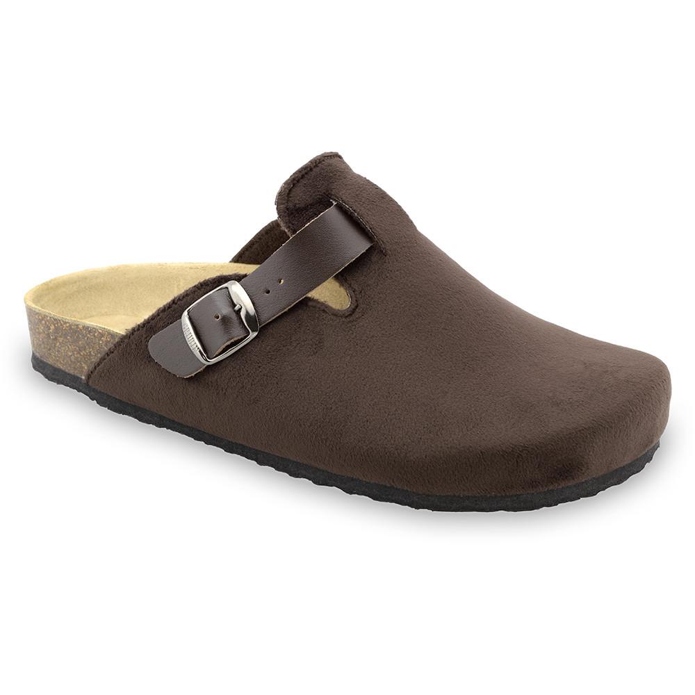 RIM zimowe buty domowe dla mężczyzn - plusz (40-49) - brązowy, 49