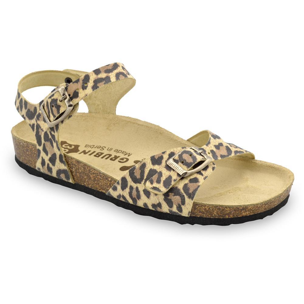 RIO sandały dla kobiet - skóra (36-42) - panterka, 39