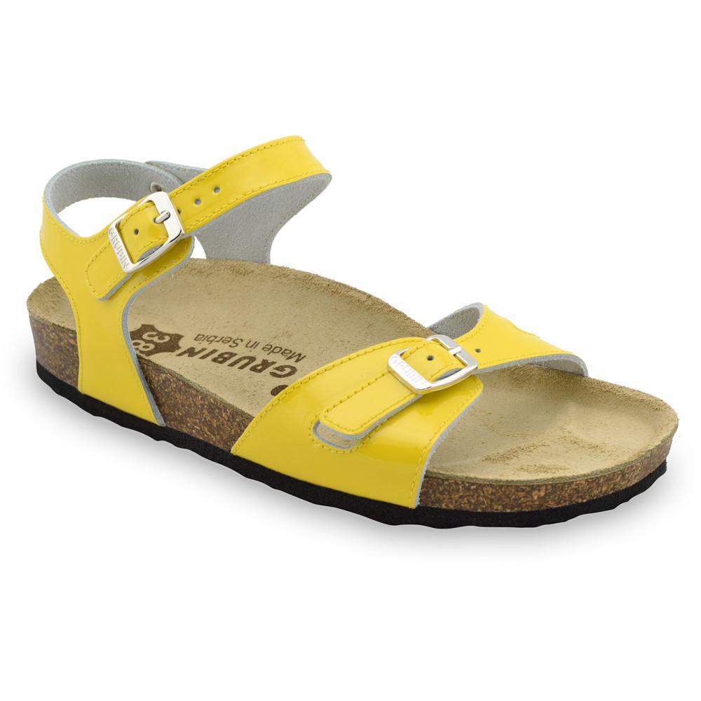 RIO damskie skórzane sandały (36-42) - żółty, 39
