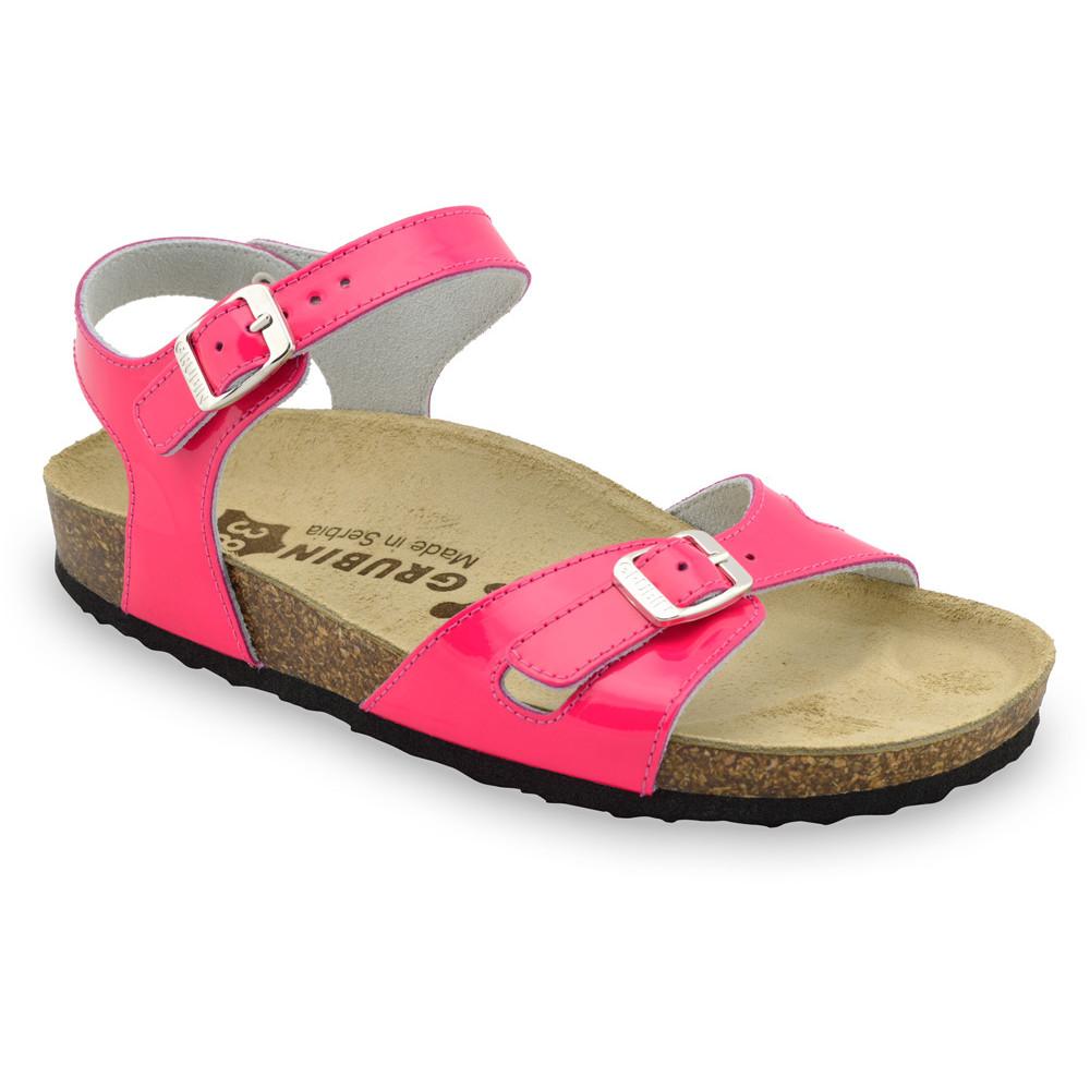 RIO damskie skórzane sandały (36-42) - różowy, 39