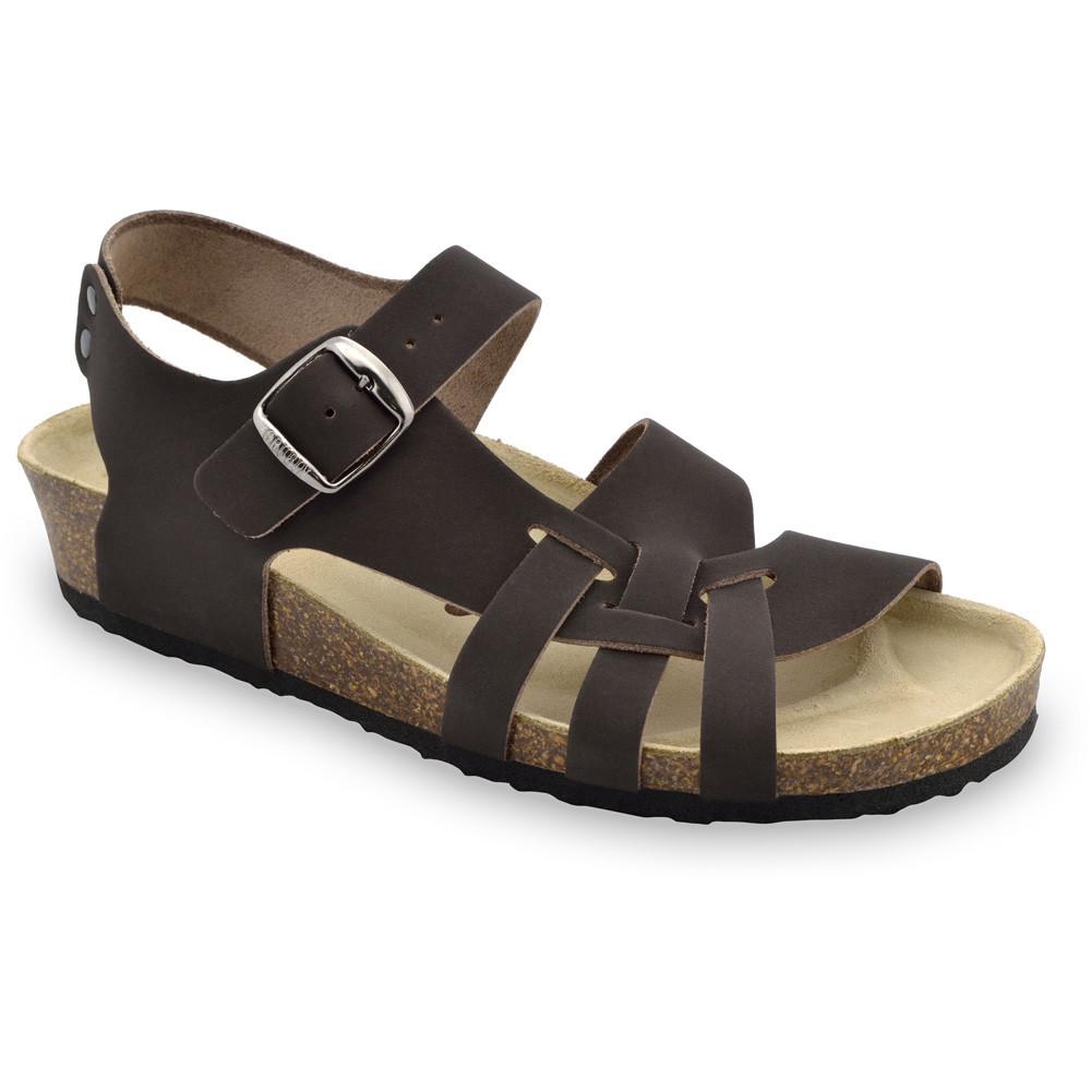 PISA damskie skórzane sandały (36-42) - brązowy, 36