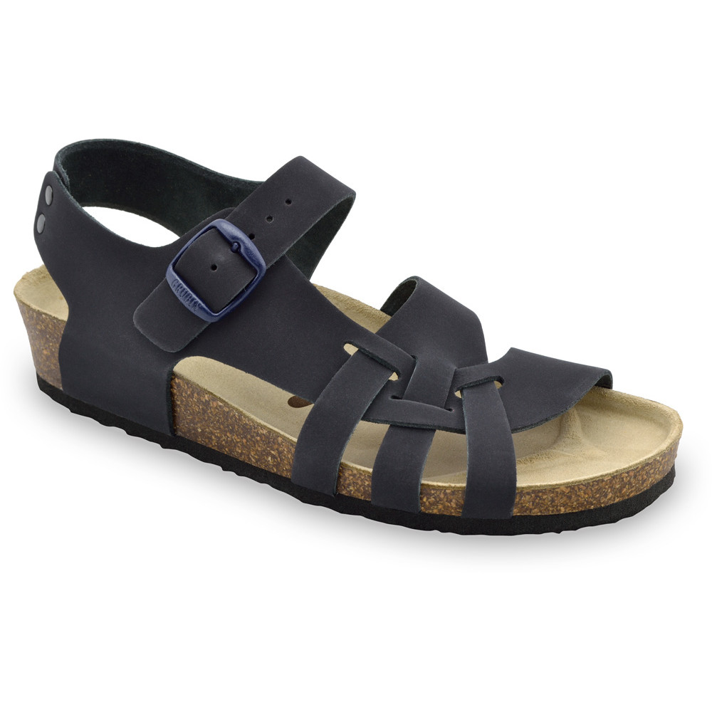 PISA damskie skórzane sandały (36-42) - niebieski mat, 39