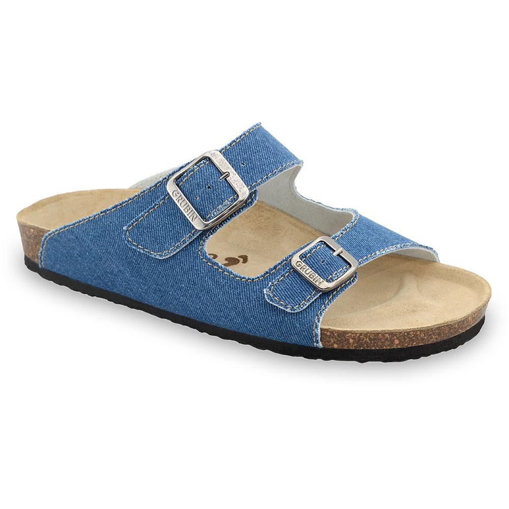 KAIRO kapcie dla mężczyzn - tkanina (40-49) - niebieski, 40
