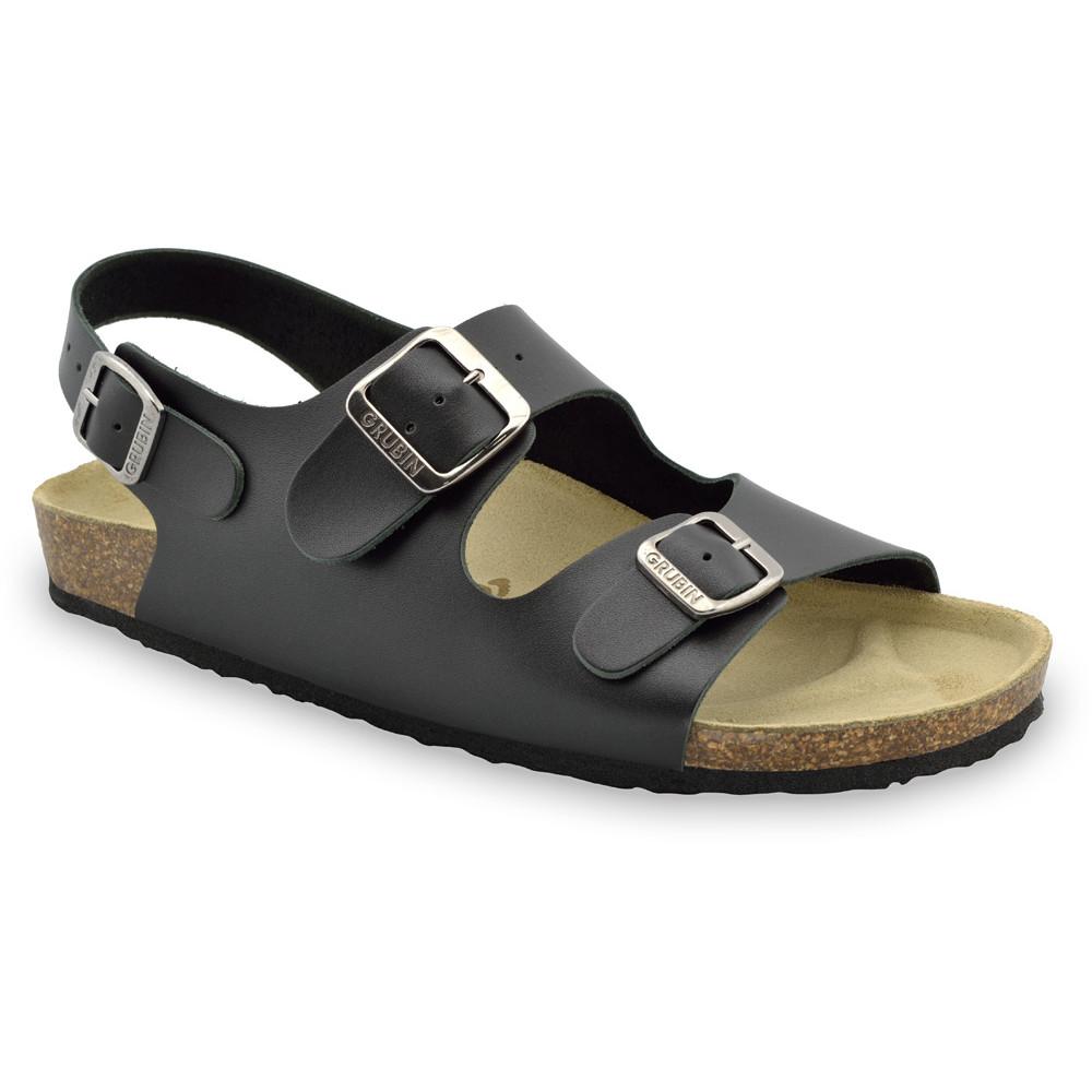 MILANO sandały dla mężczyzn - skóra (40-49) - czarny, 42