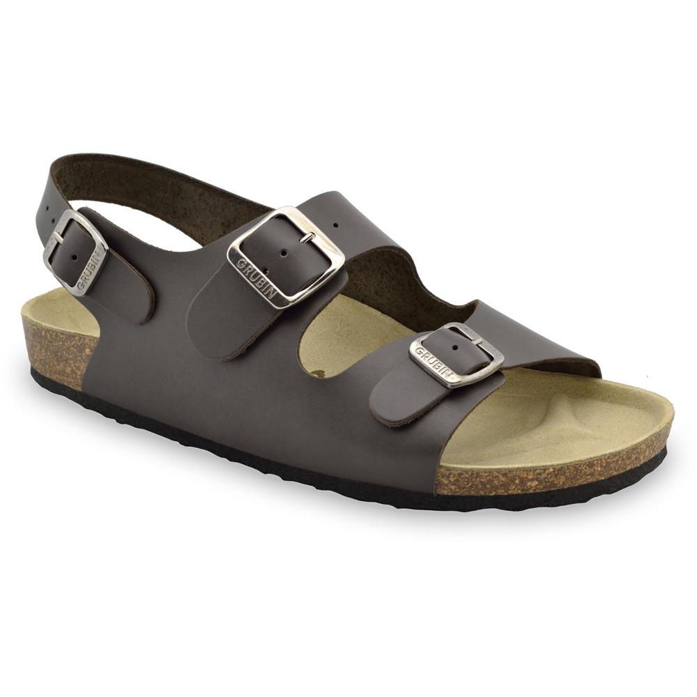 MILANO sandały dla mężczyzn - skóra (40-49) - brązowy, 43