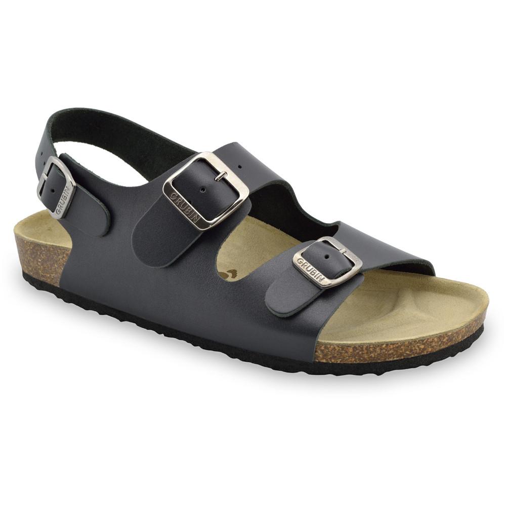 MILANO sandały dla mężczyzn - skóra (40-49) - ciemnoszary, 47