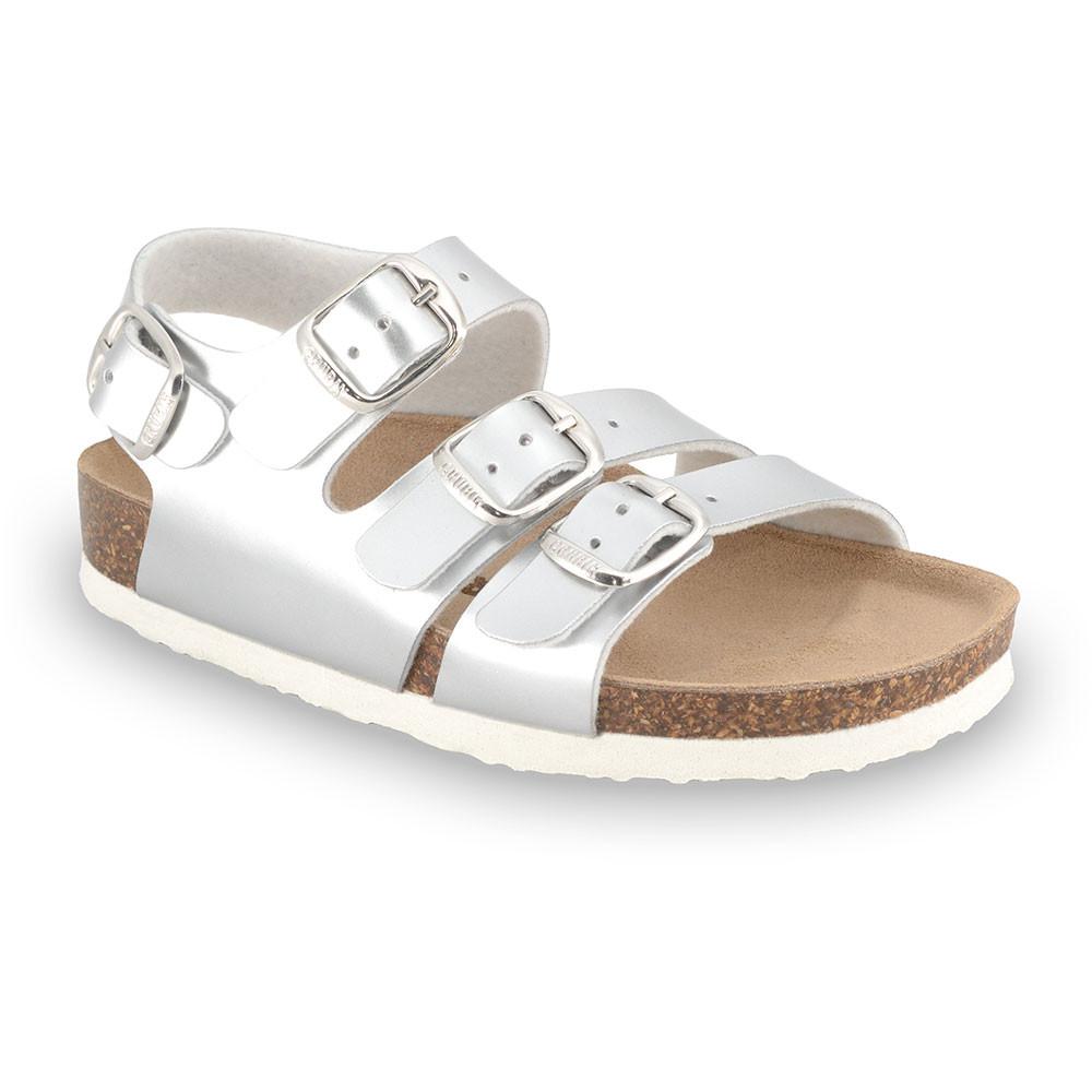 CAMBERA sandały dla dzieci - sztuczna skóra (23-29) - srebrny, 23