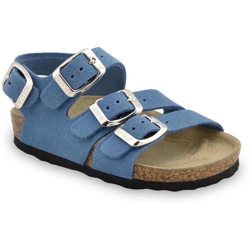 Camber skórzane sandały dziecięce (30-35) - jasnoniebieski, 31