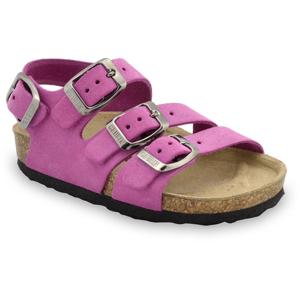 Camber skórzane sandały dziecięce (30-35) - fioletowy, 34