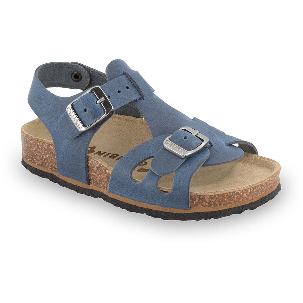 ORLANDO skórzane sandały dziecięce (30-35) - niebieski, 30