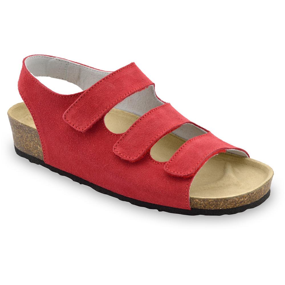 MEDINA damskie skórzane sandały (36-42) - czerwony, 39
