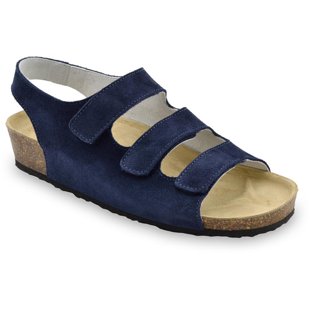 MEDINA damskie skórzane sandały (36-42) - niebieski mat, 37