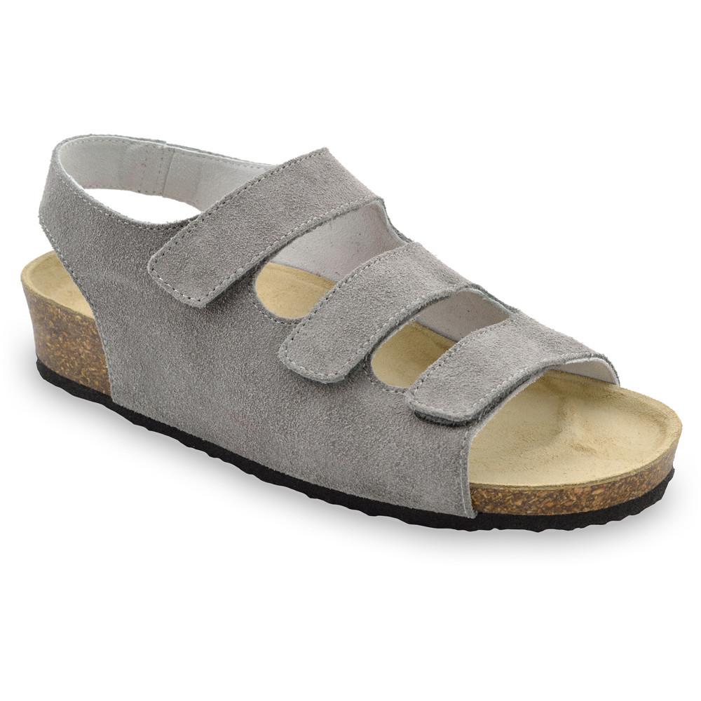 MEDINA damskie skórzane sandały (36-42) - szary, 38