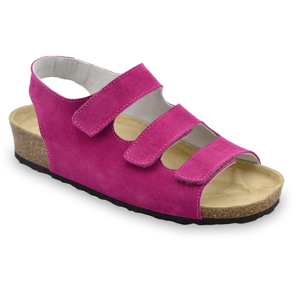 MEDINA damskie skórzane sandały (36-42) - różowy, 39