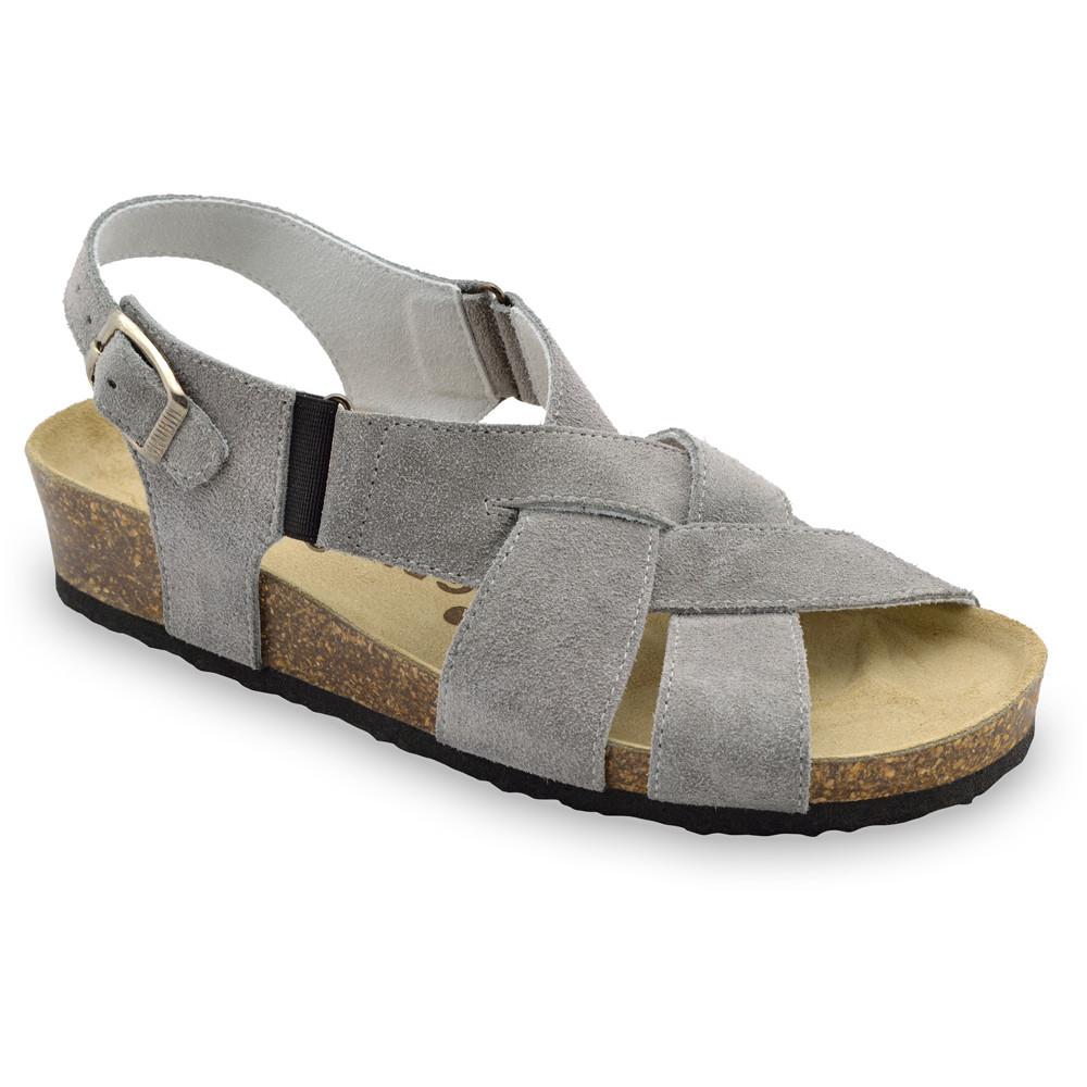 MONA damskie skórzane sandały (36-42) - szary, 42