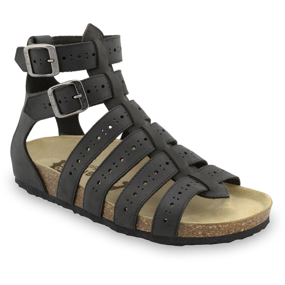 ATINA sandały dla kobiet - skóra (36-42) - czarny, 42