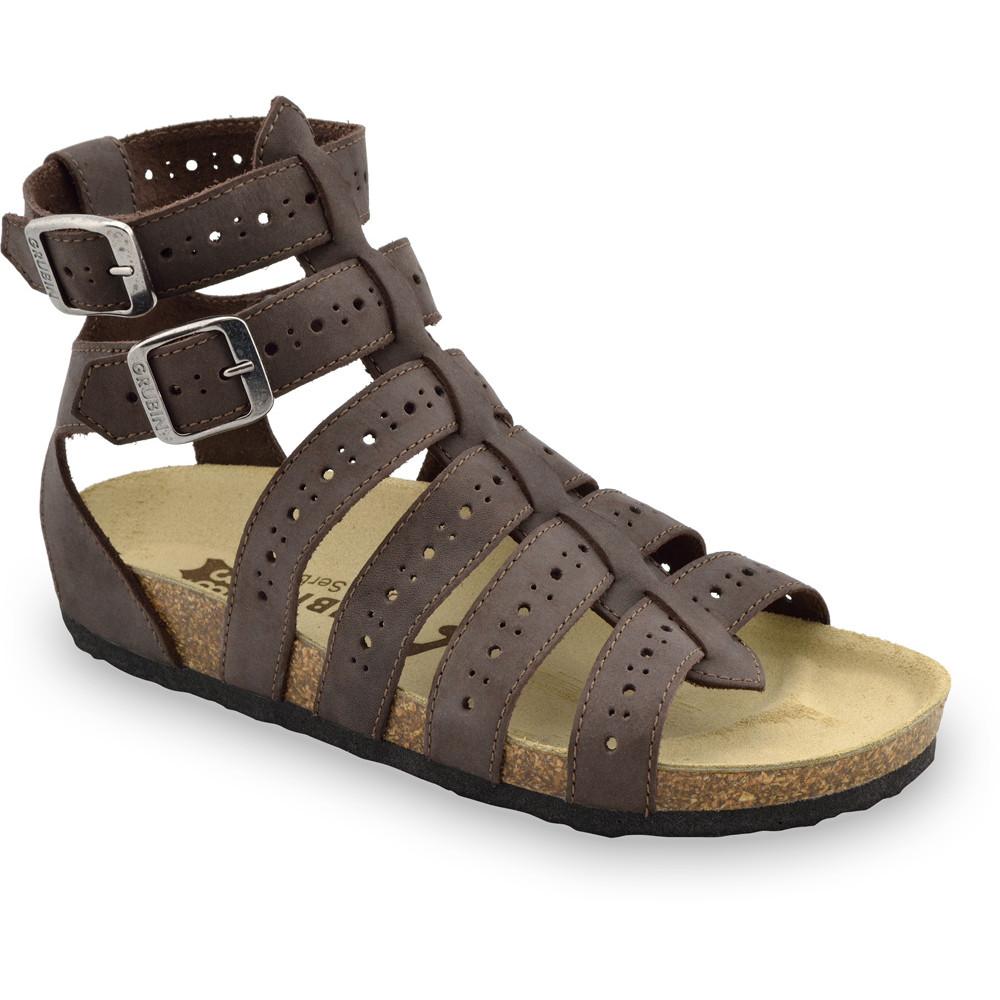 ATINA sandały dla kobiet - skóra (36-42) - brązowy, 36