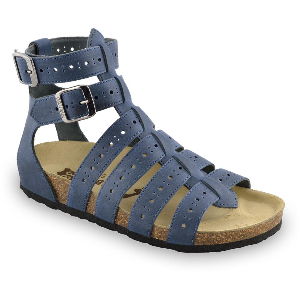 ATINA sandały dla kobiet - skóra (36-42) - niebieski, 38