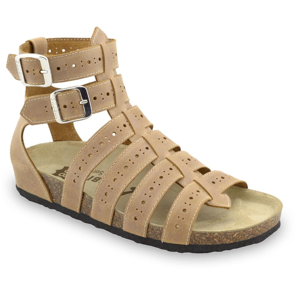 ATINA sandały dla kobiet - skóra (36-42) - jasnobrązowy, 38