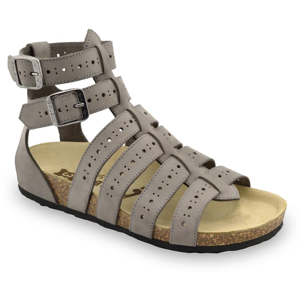 ATINA sandały dla kobiet - skóra (36-42) - szary, 42