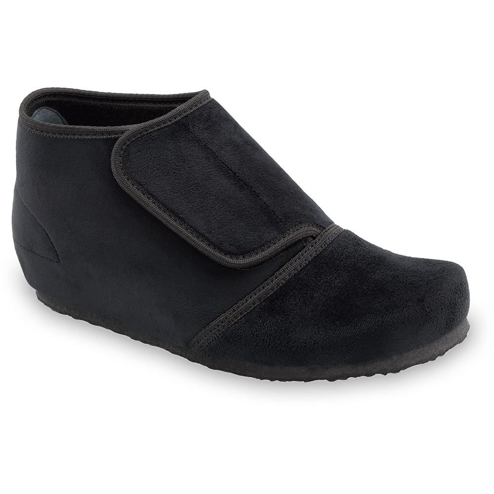 BAJKA domowe zimowe buty damskie - plusz (36-42) - czarny, 37