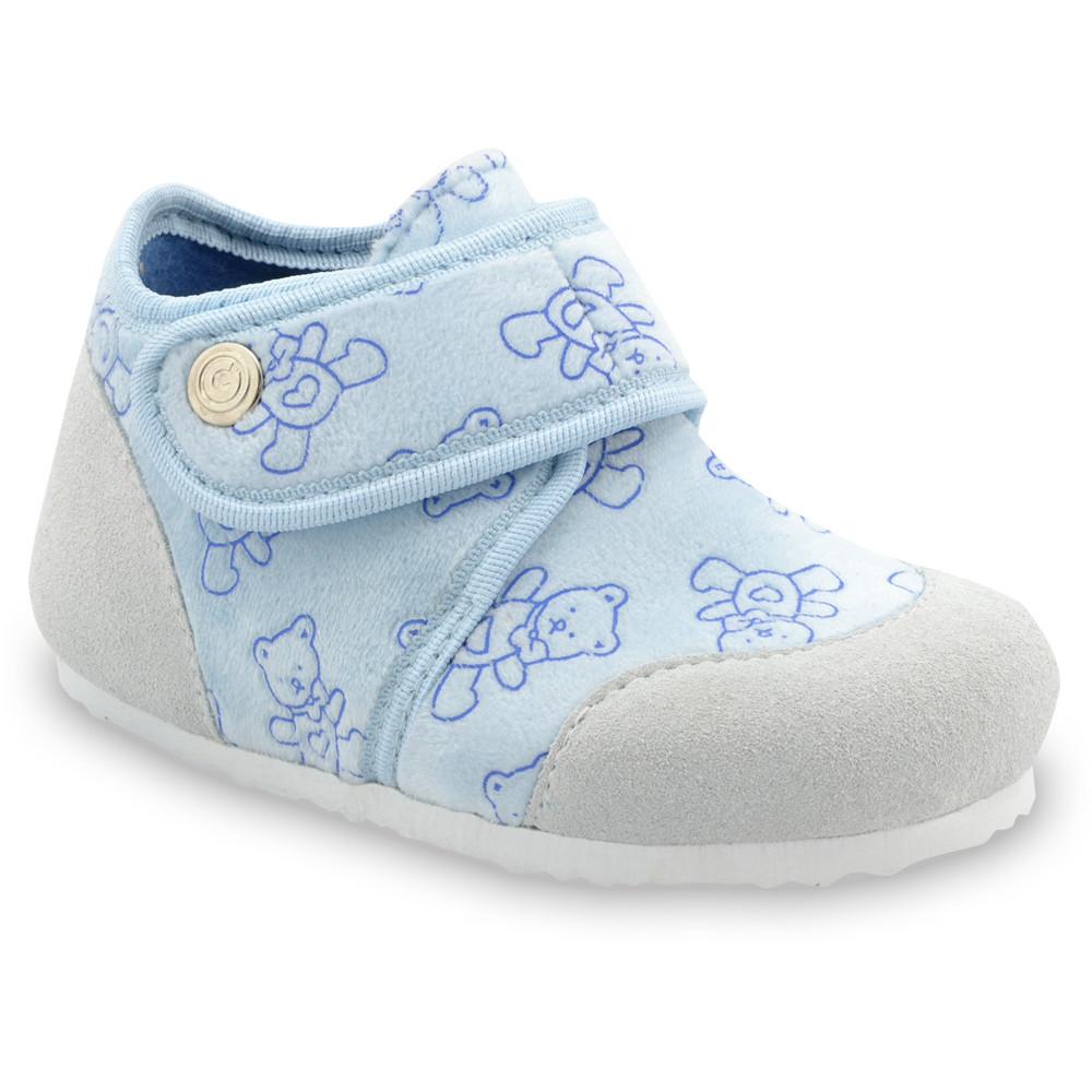 KINDER domowe obuwie zimowe dla dzieci - plusz (23-35) - niebieski, 27