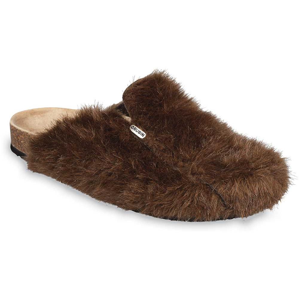 QUEBEC domowe zimowe buty dla mężczyzn - (40-49) - jasnobrązowy, 40
