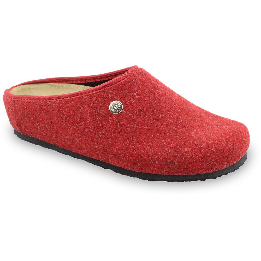 RABBIT domowe zimowe buty damskie - filc (36-42) - czerwony, 39