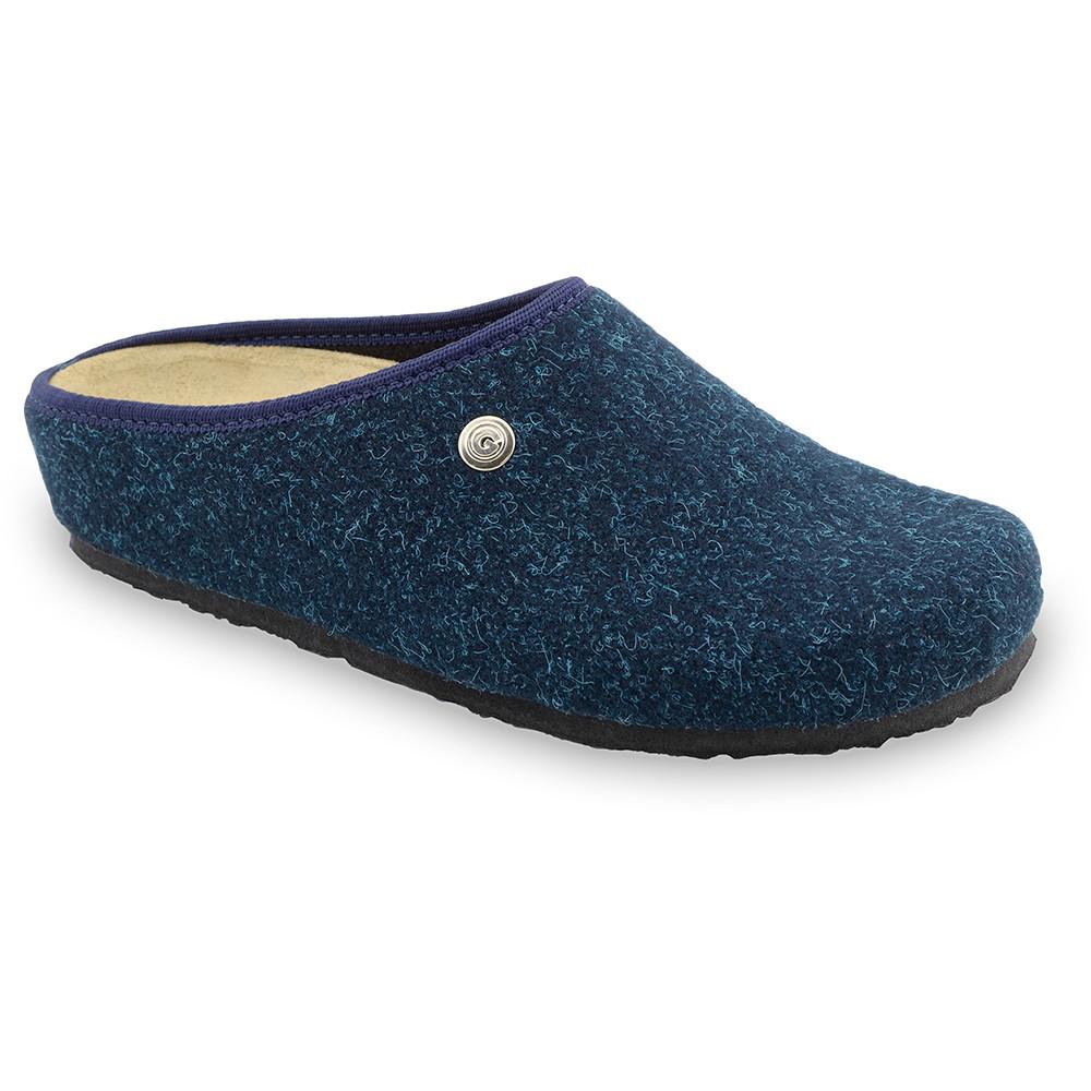 RABBIT domowe zimowe buty damskie - filc (36-42) - niebieski mat, 41