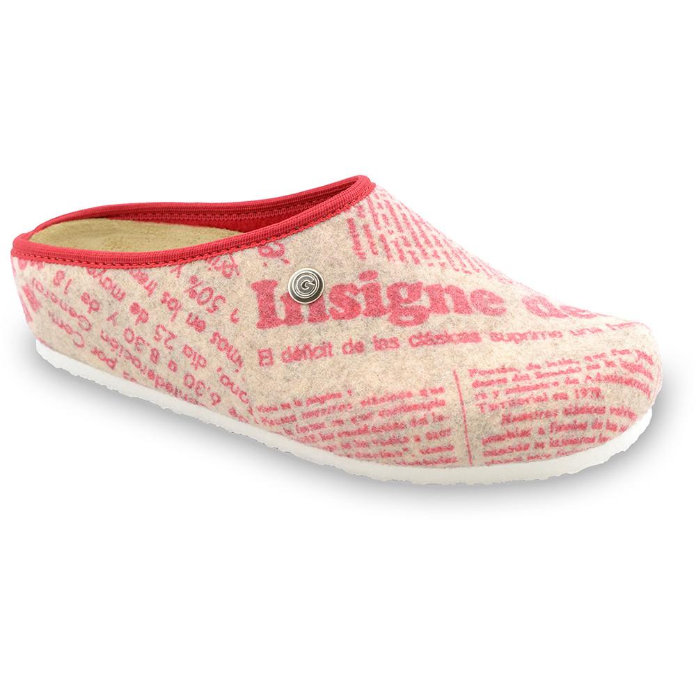 RABBIT domowe zimowe buty damskie - filc (36-42) - wzorzysty, 37