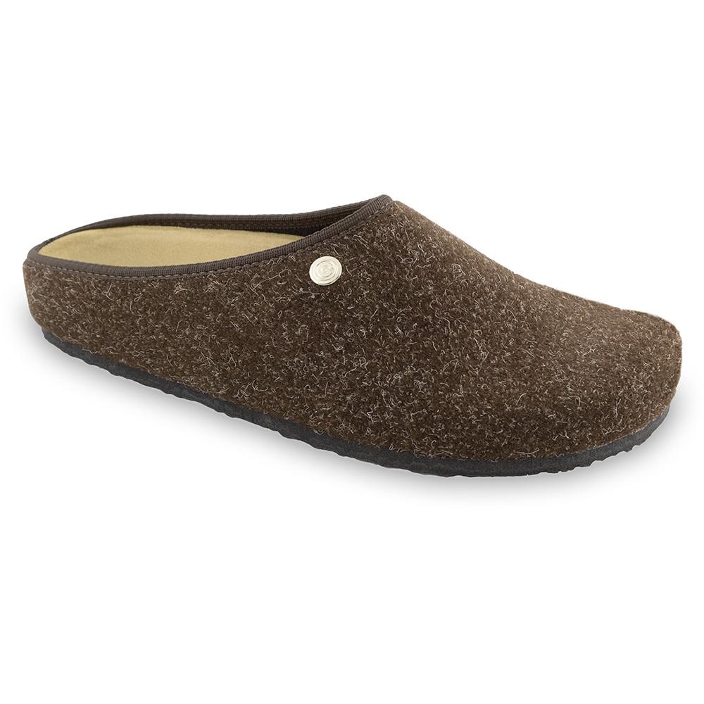 RABBIT domowe zimowe buty dla mężczyzn - filc (40-49) - brązowy, 47