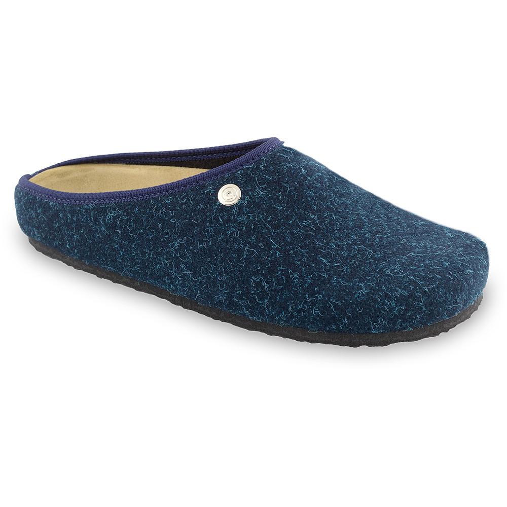 RABBIT domowe zimowe buty dla mężczyzn - filc (40-49) - niebieski mat, 46