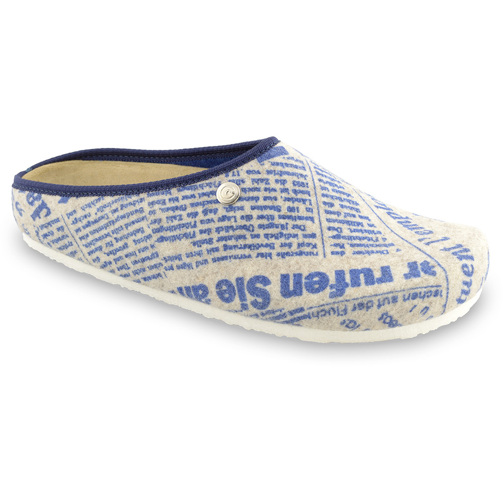 RABBIT domowe zimowe buty dla mężczyzn - filc (40-49) - wzorzysty, 43
