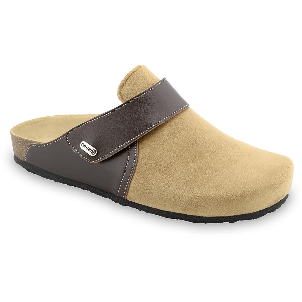 OREGON zimowe buty domowe dla mężczyzn - plusz (40-49) - jasnobrązowy, 42