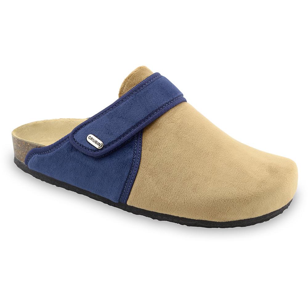 OREGON zimowe buty domowe dla mężczyzn - plusz (40-49) - kremowy, 44