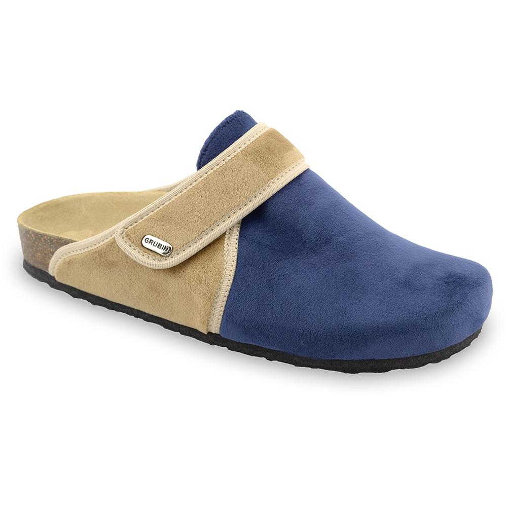 OREGON zimowe buty domowe dla mężczyzn - plusz (40-49) - niebieski mat, 49