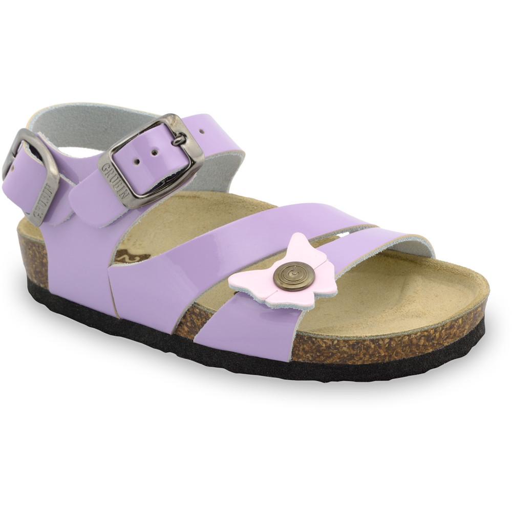 KATY sandały dla dzieci - skóra (30-35) - fioletowy, 34