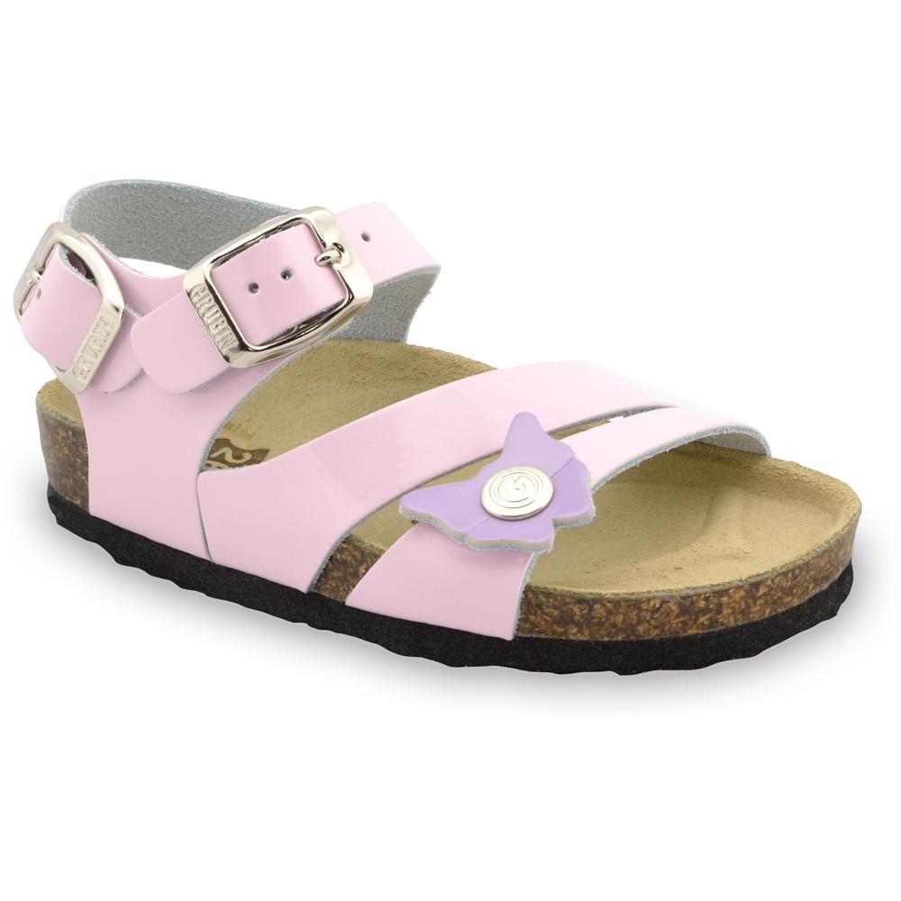 KATY sandały dla dzieci - skóra (30-35) - różowy, 35