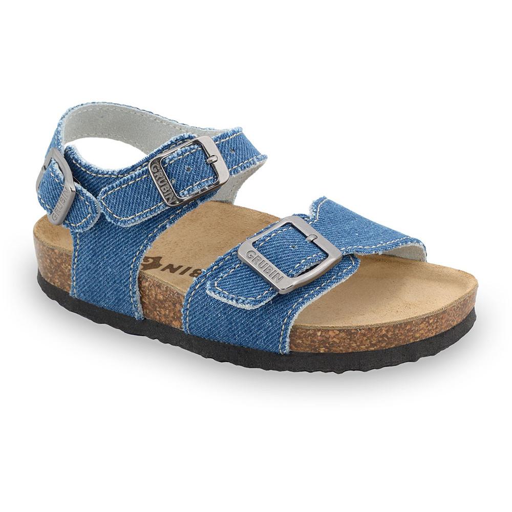 ROBY sandały dla dzieci - tkanina (23-29) - niebieski, 23