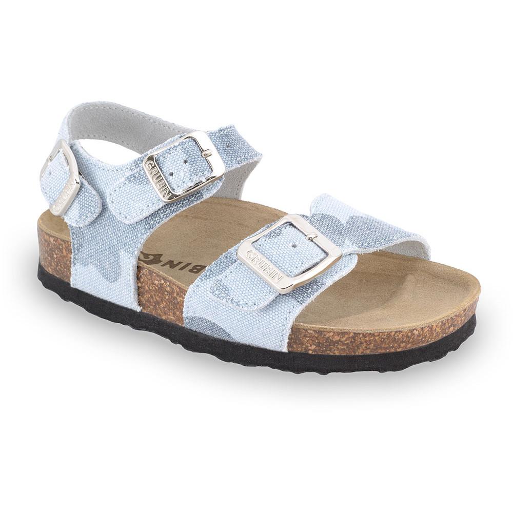 ROBY sandały dla dzieci - tkanina (23-29) - jasnoniebieski, 26