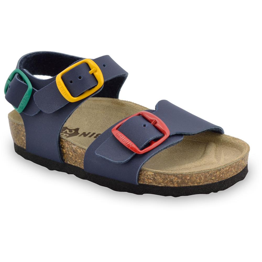 ROBY sandały dla dzieci - sztuczna skóra (23-29) - niebieski, 26