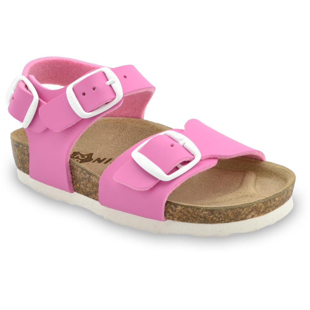 ROBY sandały dla dzieci - sztuczna skóra (23-29) - różowy, 28