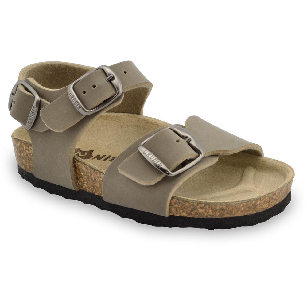 ROBY sandały dla dzieci - sztuczna skóra (23-29) - brązowy, 26