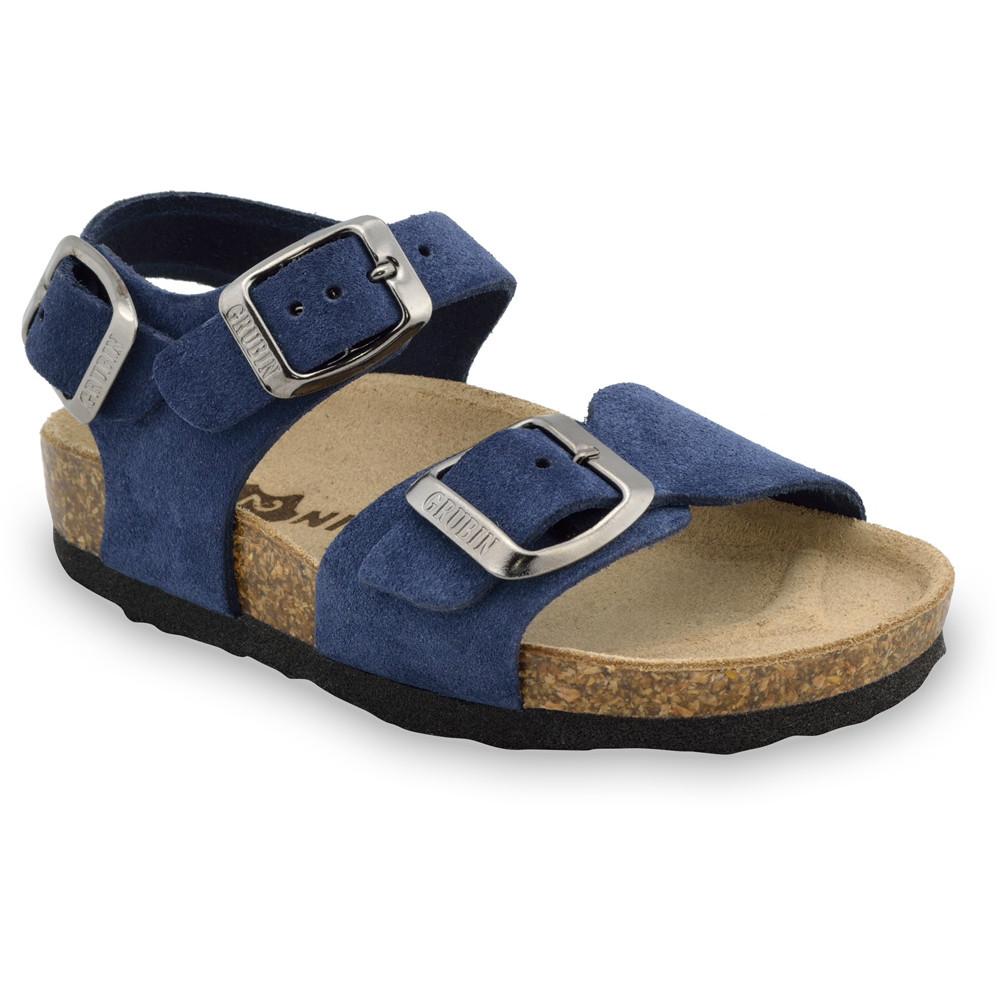 ROBY skórzane sandały dziecięce-welur (23-29)