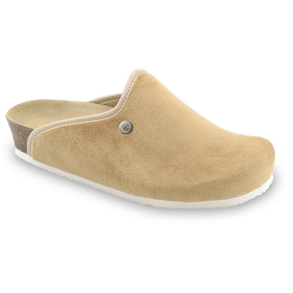 CAKI domowe zimowe buty damskie - plusz (36-42) - brązowy, 38