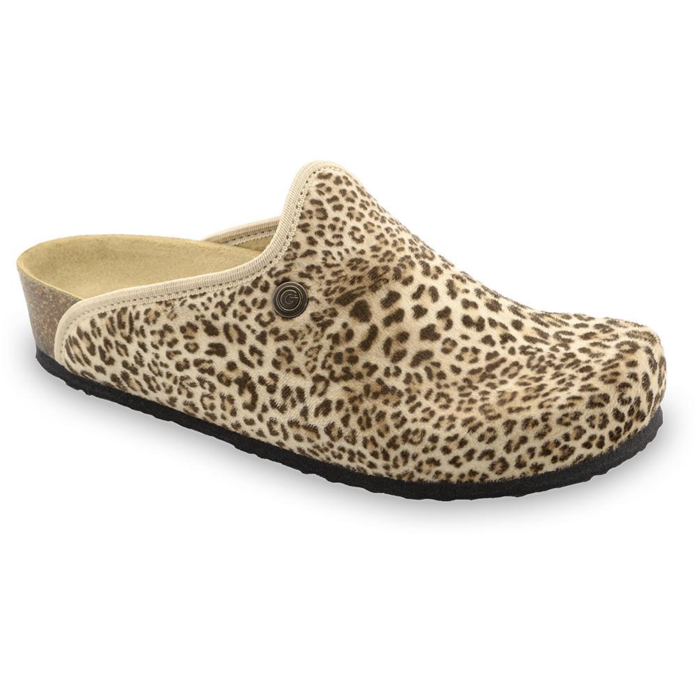 CAKI domowe zimowe buty damskie - plusz (36-42) - panterka, 38