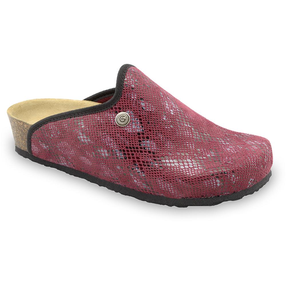 CAKI domowe zimowe buty damskie - plusz (36-42) - czerwony, 40