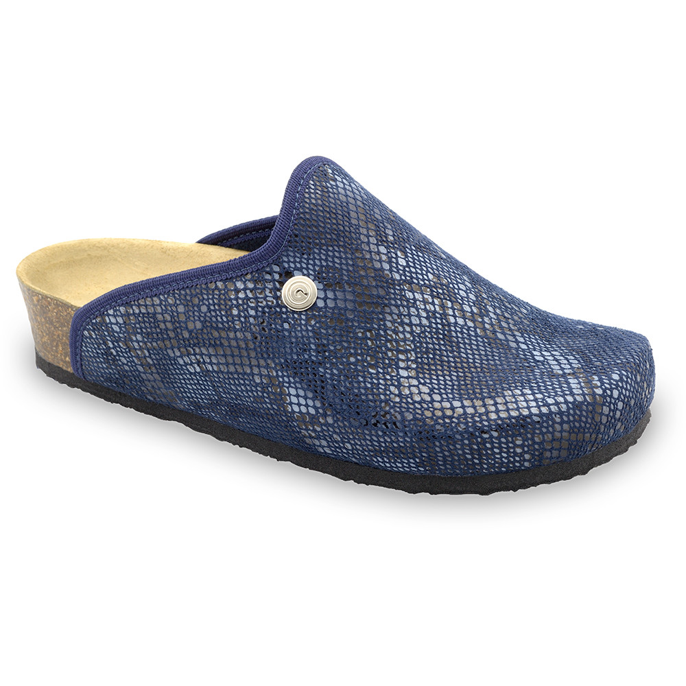 CAKI domowe zimowe buty damskie - plusz (36-42) - niebieski, 37